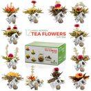 Glass Teapot + 12 Blooming Tea Gift Set