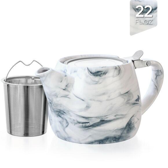 Marble Porcelain Teapot 650ml