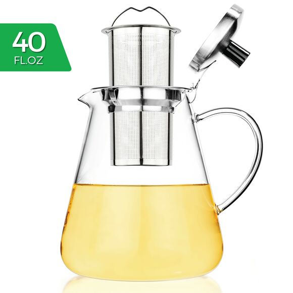 Juno Glass Teapot 1200ml