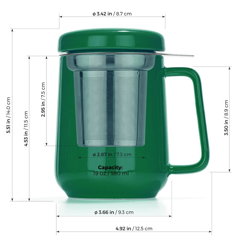 Peak Ceramic Cup Infuser 580ml