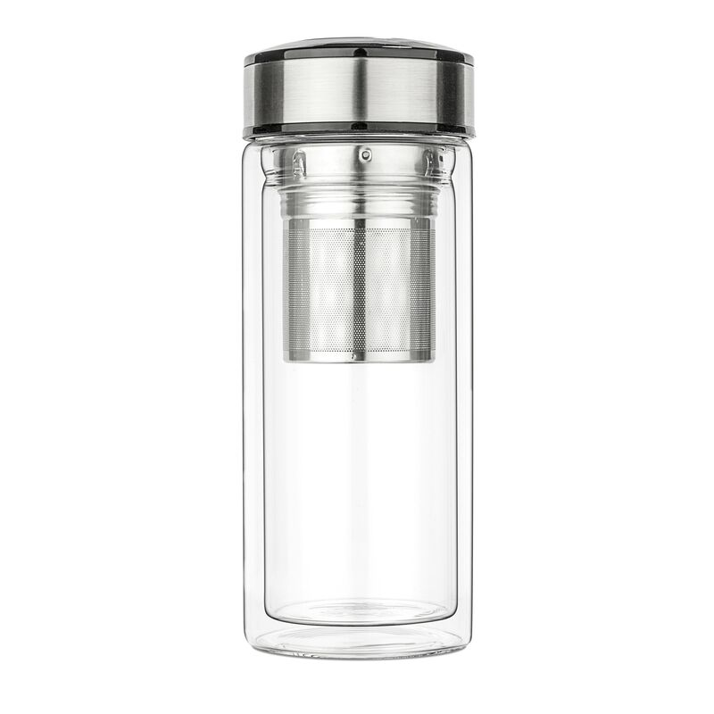 teaTravel Double Wall Glass Thermos